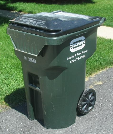 Trash Cans with Wheels