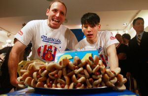Joe Chestnut - Our Hot Dog Eating Hero with the formidable Kobayashi