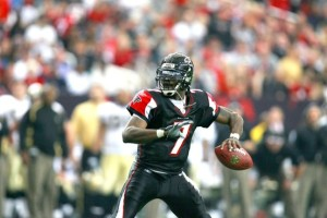 Not only a Blogger, Michael Vick was also a good athlete.  In this picture he appears to be playing for rec team in the Atlanta area