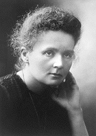 "Marie Curie beaming and saying ""Boo-yah, I just invented Polonium!"""