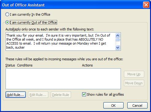 Out of office funny out of office assistant